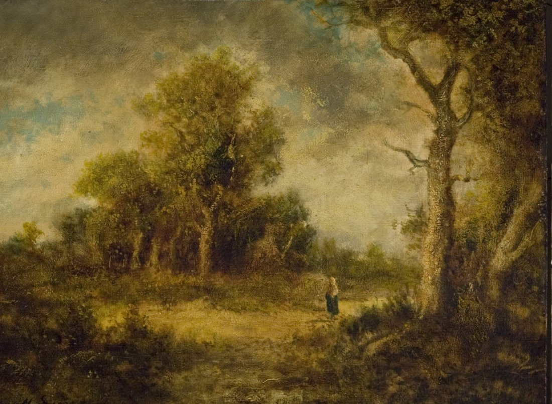 Wooded Landscape with Woman on a Path