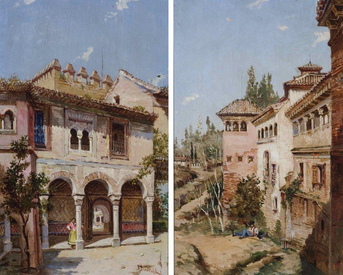 A Pair of Spanish Street Scenes