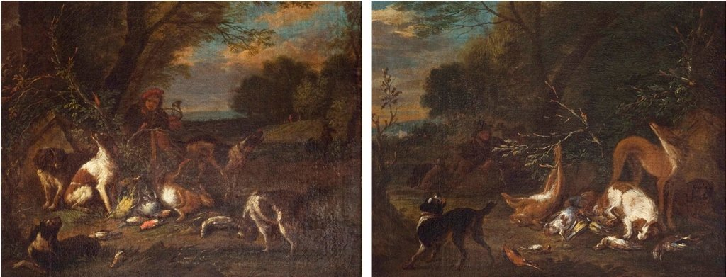 The Hunter, His Dogs, and the Catch , A Pair