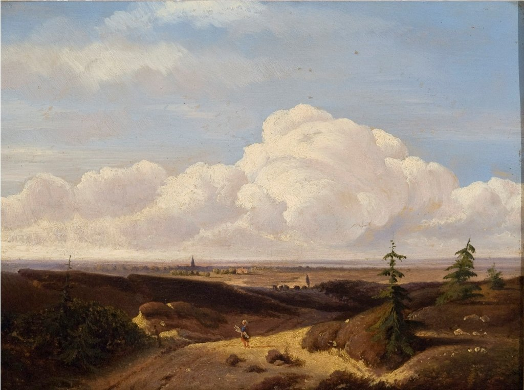 Landscape with Figure in Road