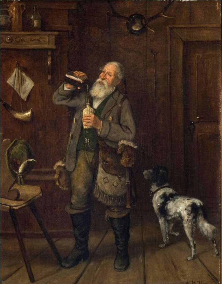 Filling His Flask
