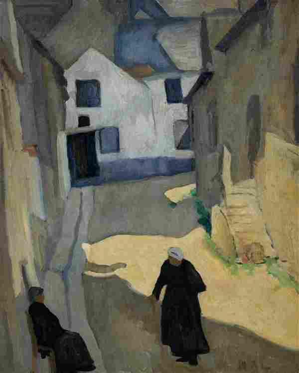 William Auerbach-Levy Women in a Village Street