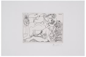Pablo Picasso -  Plate from Series 347, 1968