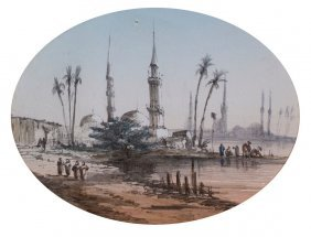 Lucien Berthault -  Distant City in the East: Minarets.