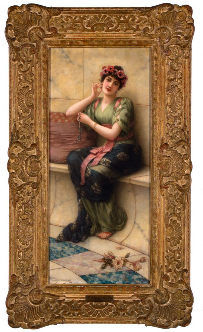 Emile Eisman–Semenowsky -  Charm and Flowers - 2