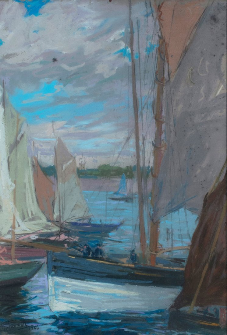 Charles Fromuth -  A Changed Harbor in Movement, 1906