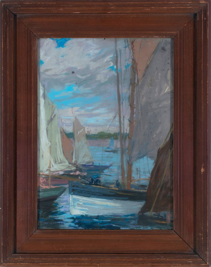 Charles Fromuth -  A Changed Harbor in Movement, 1906 - 2