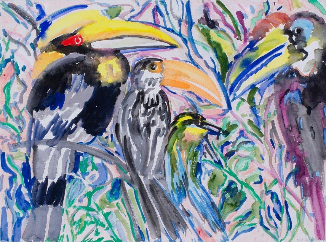 Hunt Slonem -  Four Hornbills