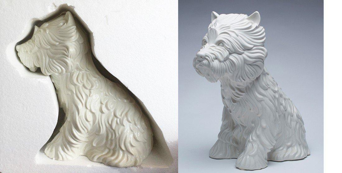 Jeff Koons -  Puppy (Vase)