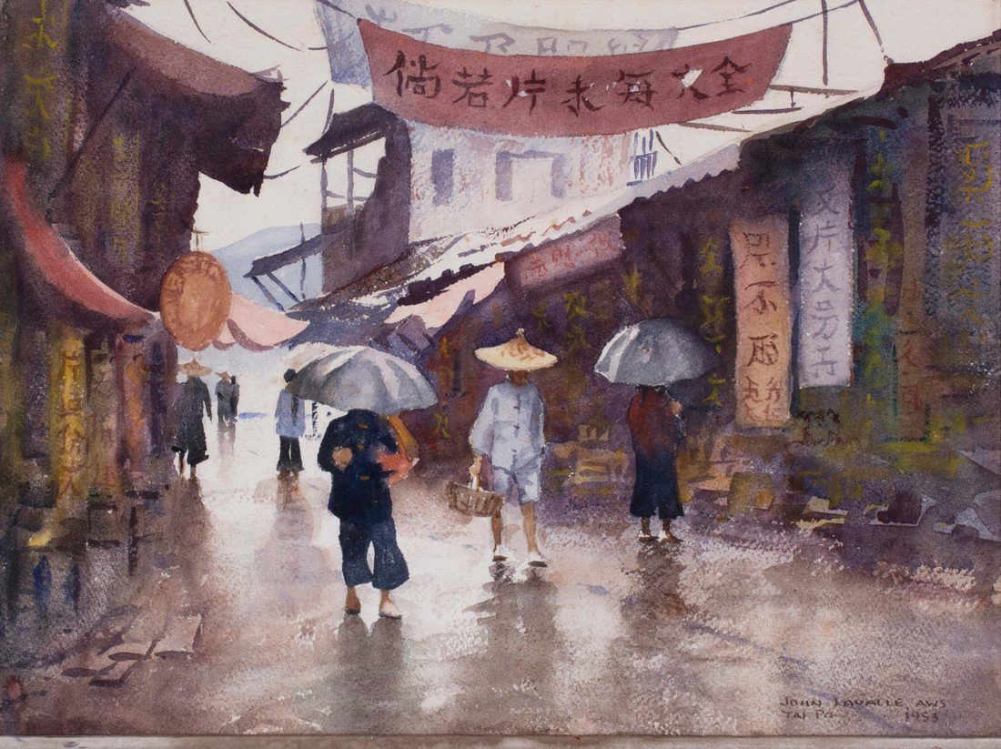 John LaValle -  A Rainy Day in the Market, Tai Po, Hong