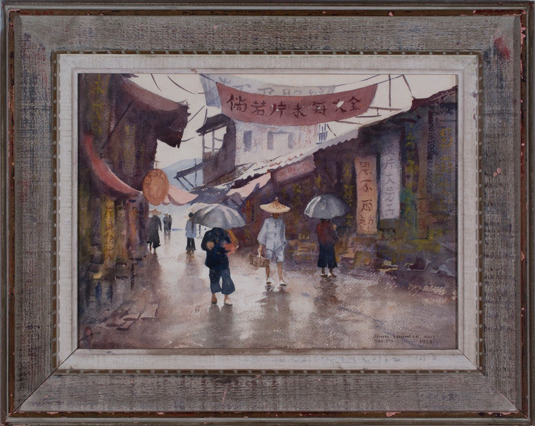John LaValle -  A Rainy Day in the Market, Tai Po, Hong - 2