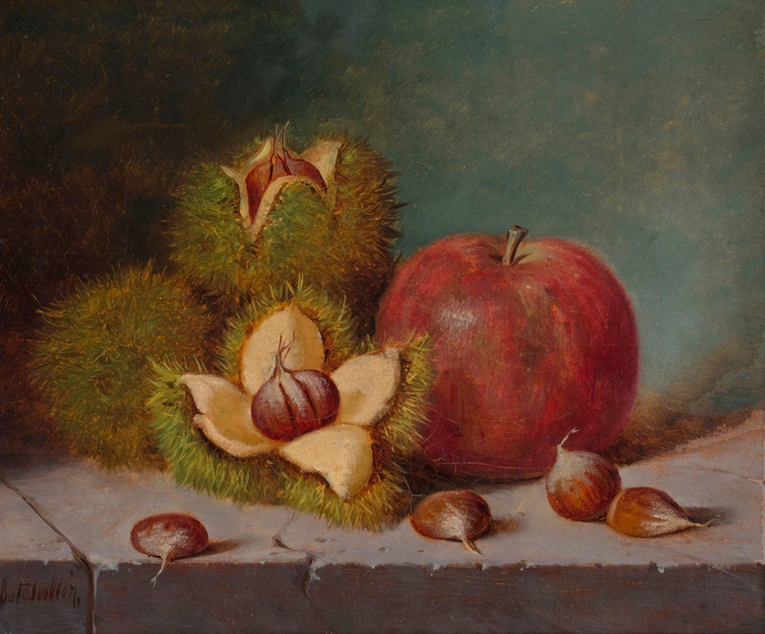 Frederick Batcheller -  Apple and Chestnuts