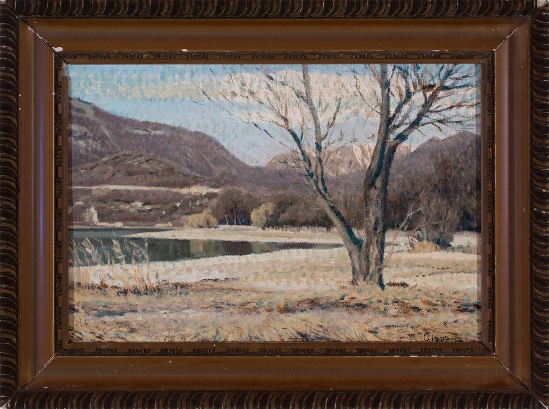Attributed to William Henry Clapp -  Distant Mountains - 2
