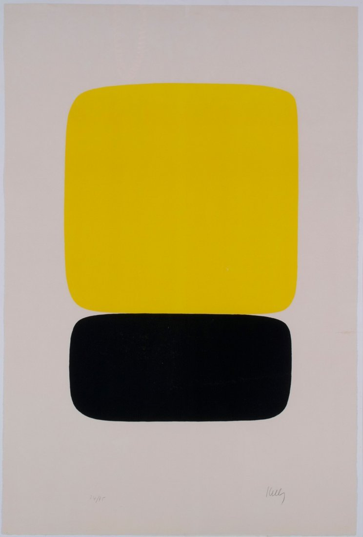 Ellsworth Kelly -  Yellow Over Black