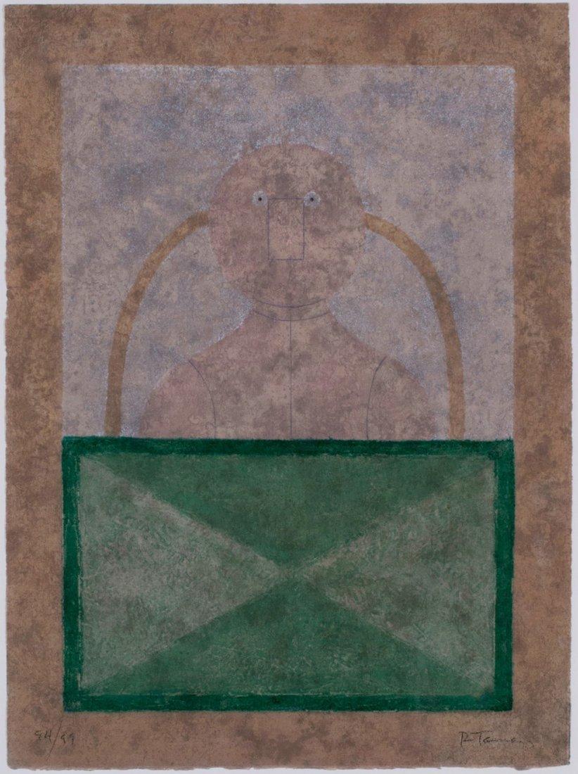 Rufino Tamayo -  Torso En Rosa, 1980