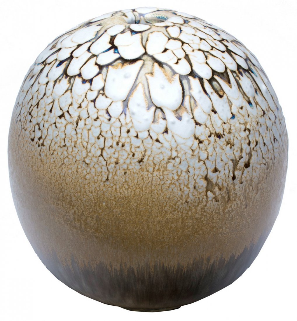 Brother  Thomas -  Beige Vase with crackle