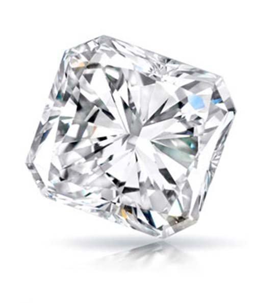 Diamond  Radiant 0.54 Carat F, SI1, EGL