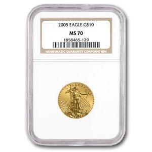 2005 1/4 oz Gold American Eagle MS-70 NGC