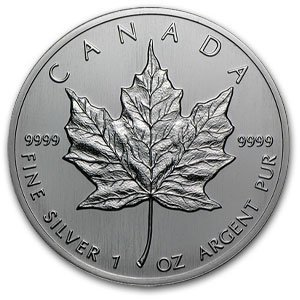 1988 1 oz Silver Canadian Maple Leaf Uncirculated