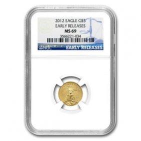 2012 1/10 Oz Gold American Eagle MS-69 NGC