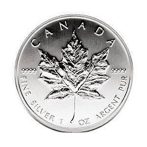 1988 1 oz Silver Canadian Maple Leaf Uncirculated