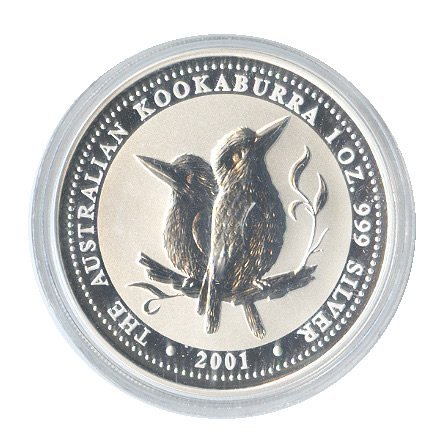 2001 1 oz Silver Australian Kookaburra
