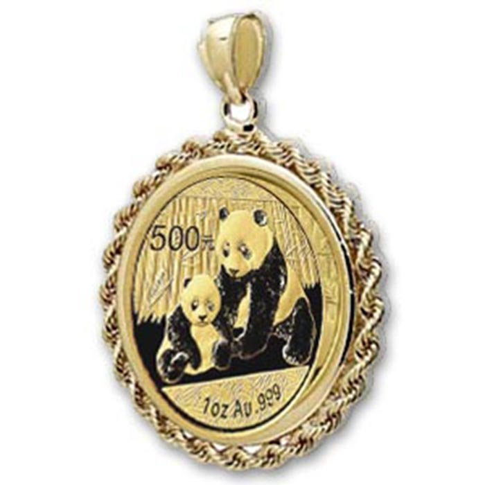 2012 1 oz Gold Panda Pendant (Rope-Prong Bezel)