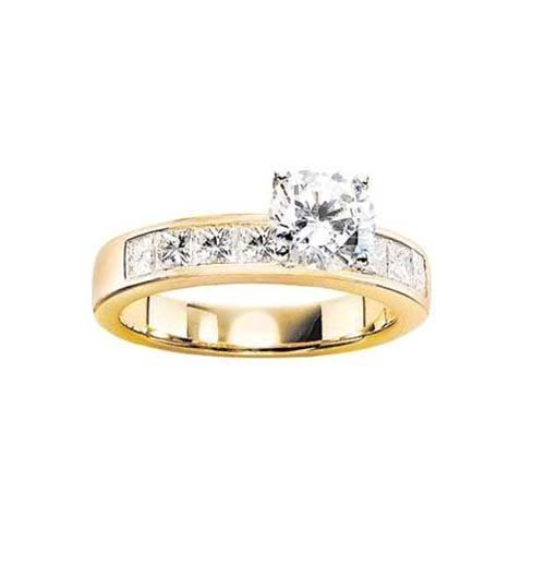 14K Yellow Gold Engagement Ring; 1CT Diamond