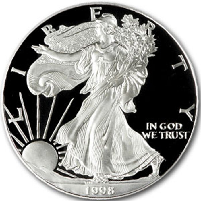 Proof Silver Eagle 1998-P