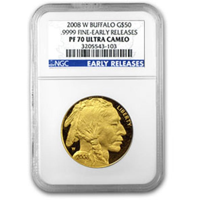 2008-W 1 oz Gold Buffalo PF-70 NGC (Early Releases)