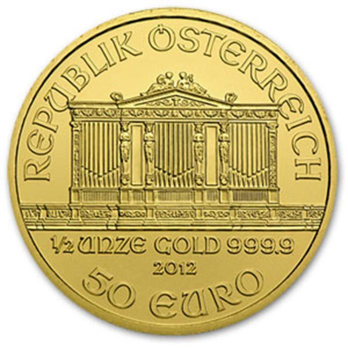 2012 1/2 oz Gold Austrian Philharmonic