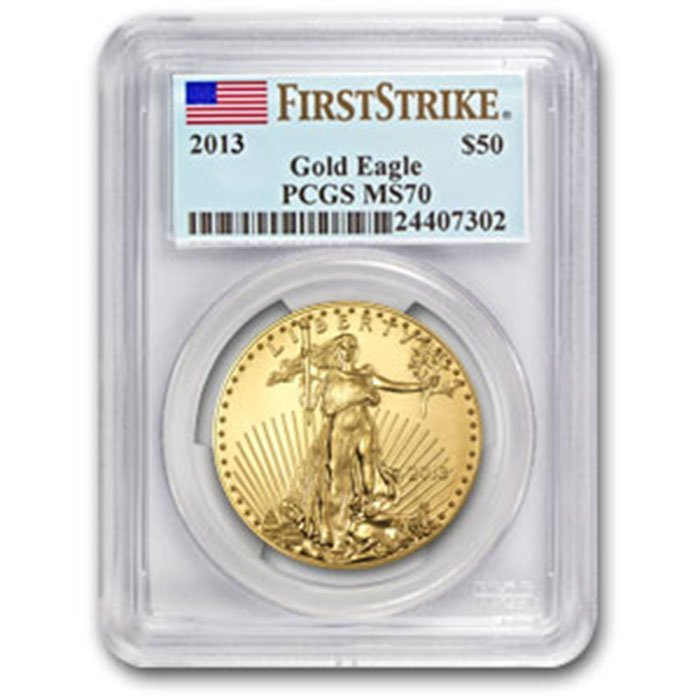 2013 1 oz Gold American Eagle MS-70 PCGS First Strike