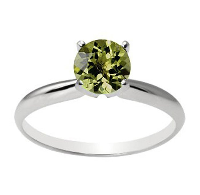 Natural Tourmaline 1.55ctw Ring 14kt White Gold