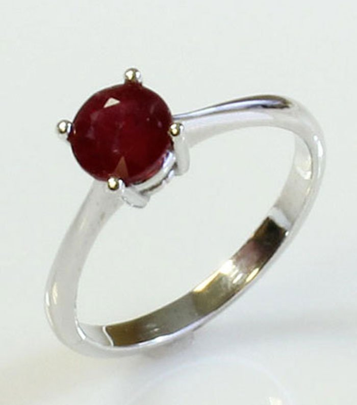 Natural Ruby 2.25ctw Ring 14kt White Gold