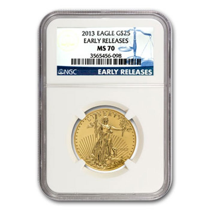 2013 1/2 oz Gold American Eagle MS-70 NGC Early Release