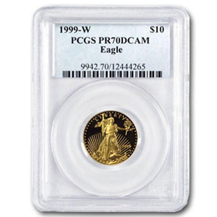 1999-W 1/4 oz Proof Gold American Eagle PR-70 PCGS