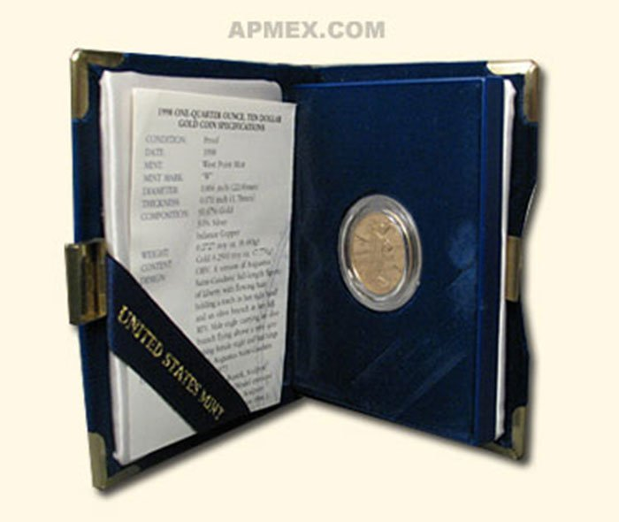 1998-W 1/4 oz Proof Gold American Eagle PF-70 NGC