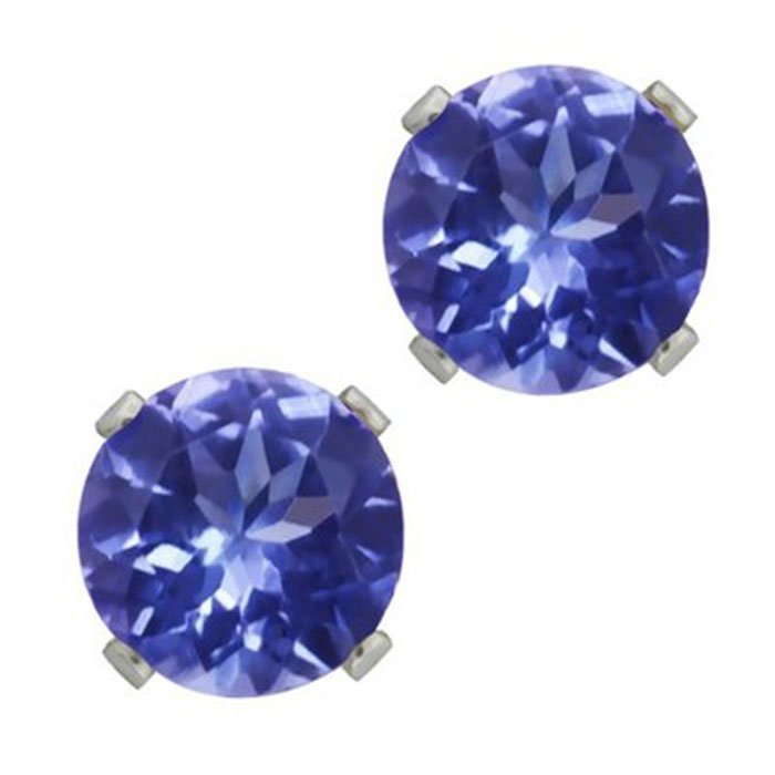 Natural Tanzanite 11.50ctw Earring 14kt White Gold