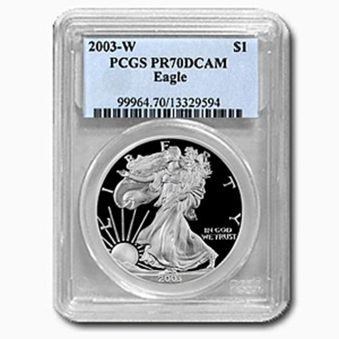 2003-W (Proof) Silver American Eagle PR-70 DCAM PCGS