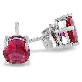 Natural Ruby 9.00ctw Earring 14kt White Gold