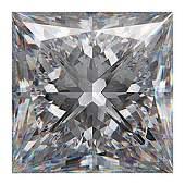 Certified Diamond PRINCESS 4.01 Ct I VS1 EGL