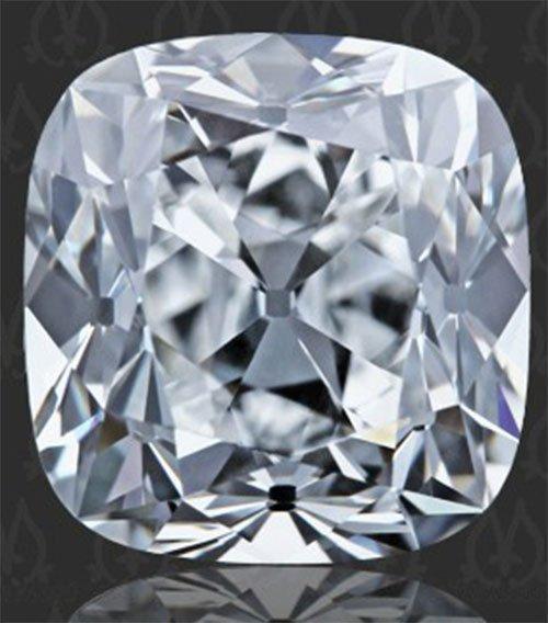 Certified Diamond CUSHION 1.0 E, VS2, GI
