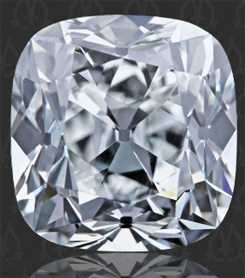 Certified Diamond CUSHION 1.0 E, VVS2, GI