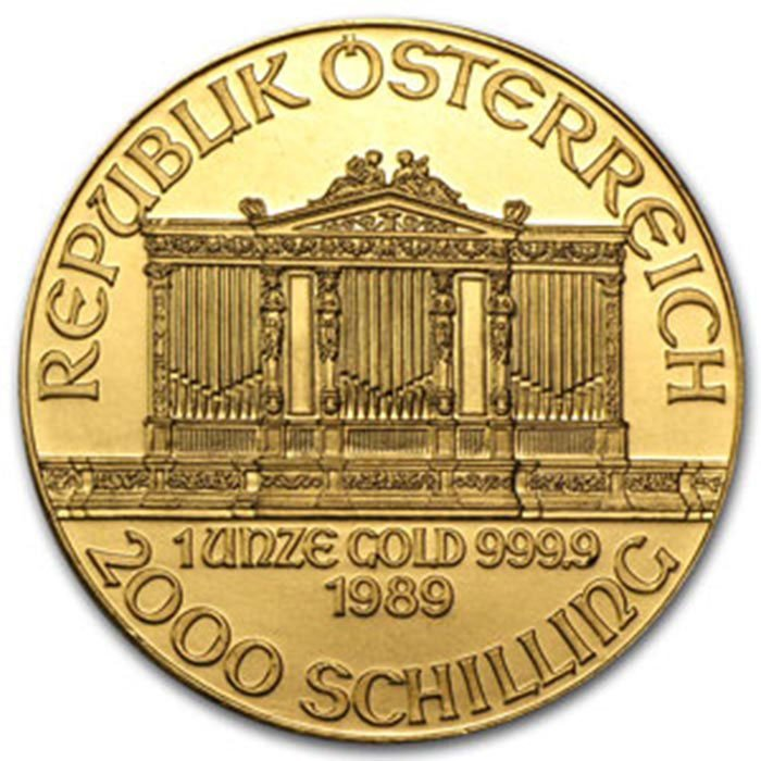 1989 1 oz Gold Austrian Philharmonic