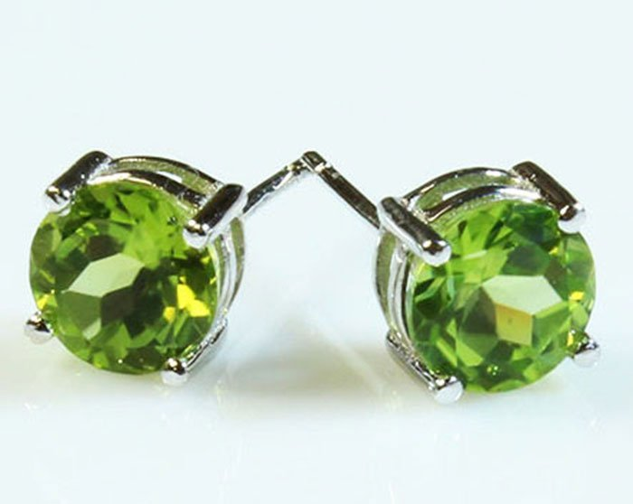 Natural Peridot 10.50ctw Earring 14kt White Gold