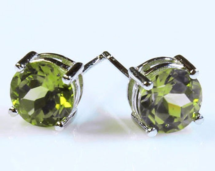 Natural Tourmaline 6.00ctw Earring 14kt White Gold