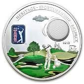 Cook Islands 2012 Proof Silver $5 PGA Tour - Golf Ball