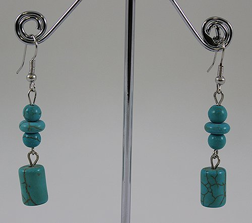 Sterling Silver Layered Turquoise Earring