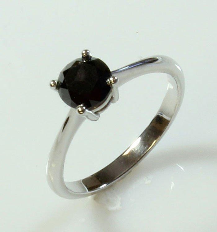 Natural Black Diamond 0.50ctw Ring 14kt White Gold