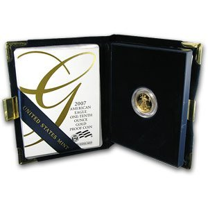 2007-W 1/10 oz Proof Gold American Eagle
